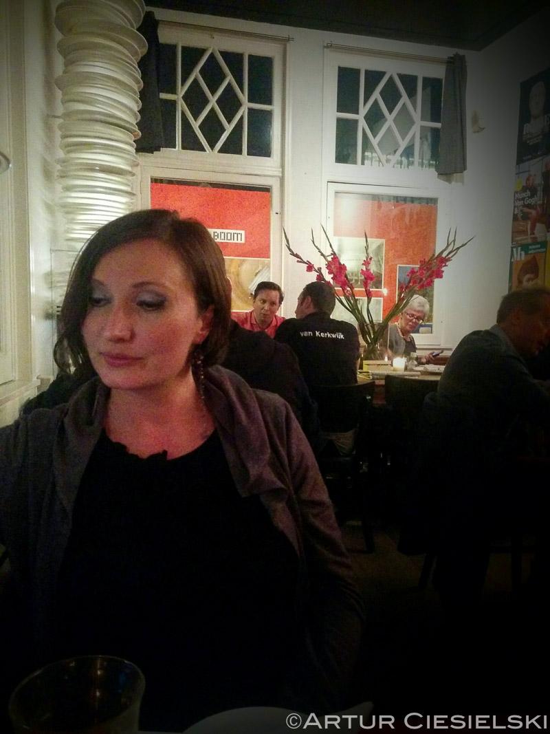 Waiting for food at the restaurant van Kerkwijk